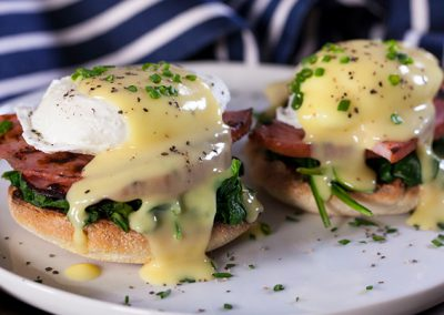 Ham Steak Eggs Florentine