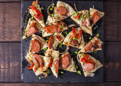 Smoked Sausage Flatbread Appetizer