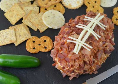 Game Day Spicy Bacon Cheese Ball