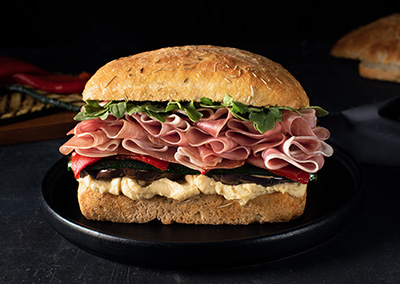 Prosciutto & Grilled Vegetable Sandwich