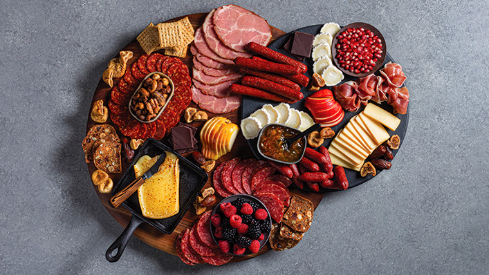 Sweet and Savoury Charcuterie Board
