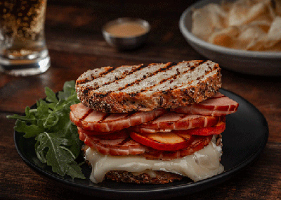 Grilled Ham and Brie Sammie