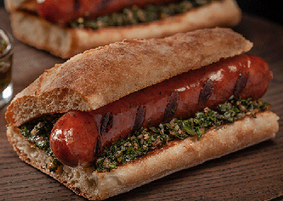 Grilled Spicy Sicilian Sausage with Chimichurri