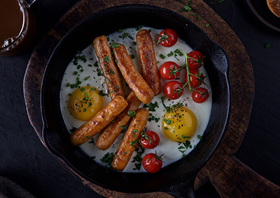One Skillet Sausage Breakfast