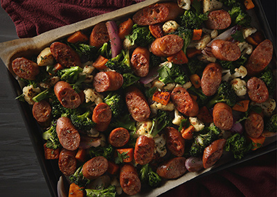 Sheet Pan Sausages
