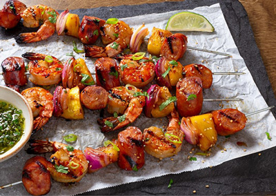 Smoked Sausage Skewers
