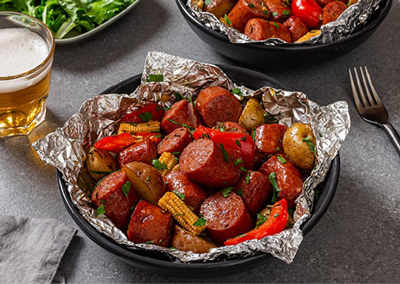 Smoked Sausage and Vegetable Packets