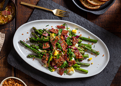 Asparagus Salad with Grilled Bacon Vinaigrette