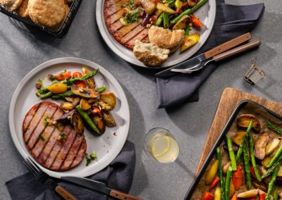 Ham Steak with Sheet Pan Vegetables
